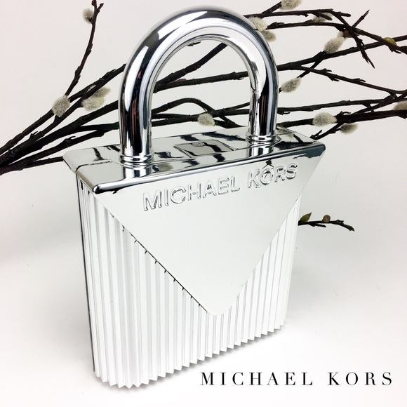 NWT Michael Kors Mercer Oversized Lock Clutch Boutique